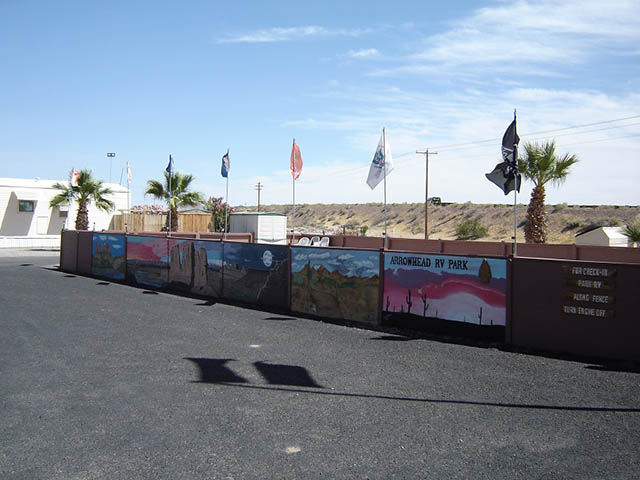 wall of flags